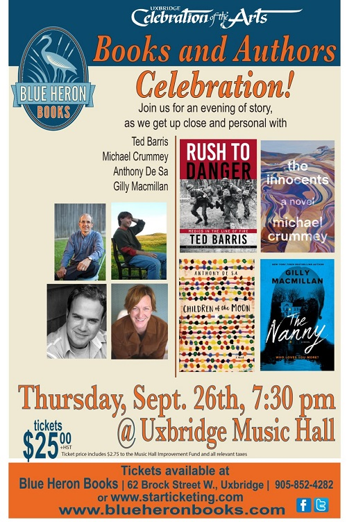 Books and Authors: September 26 7:30 PM