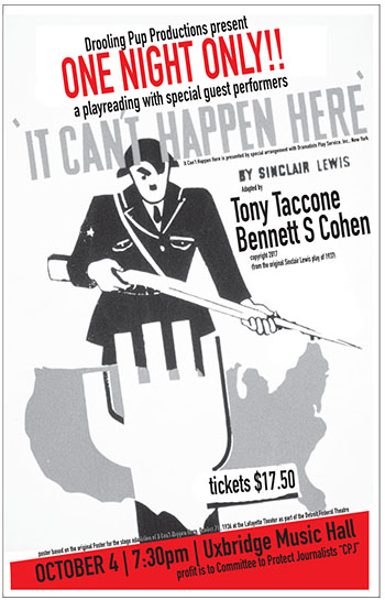 It Can't Happen Here - Oct 4 7:30 PM