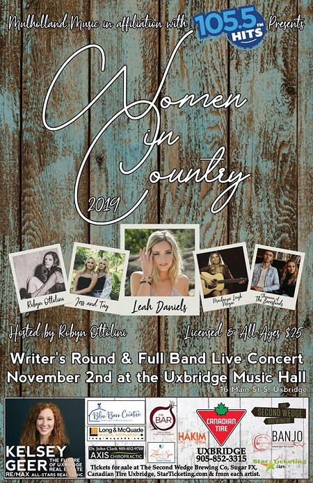 Women in Country ft. Leah Daniels, Robyn Ottolini & more.  - Nov 2 7:00 PM